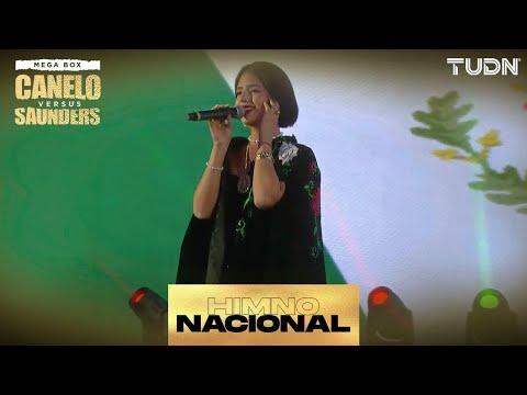 ¡Angela Aguilar entona el Himno Nacional ESPECTACULAR | 'Canelo' vs Saunders | TUDN