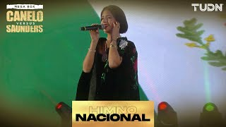 ¡Angela Aguilar entona el Himno Nacional ESPECTACULAR   'Canelo' vs Saunders   TUDN