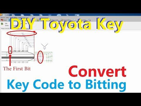 DIY Toyota Key(2/4) -How to convert Key code into Bitting