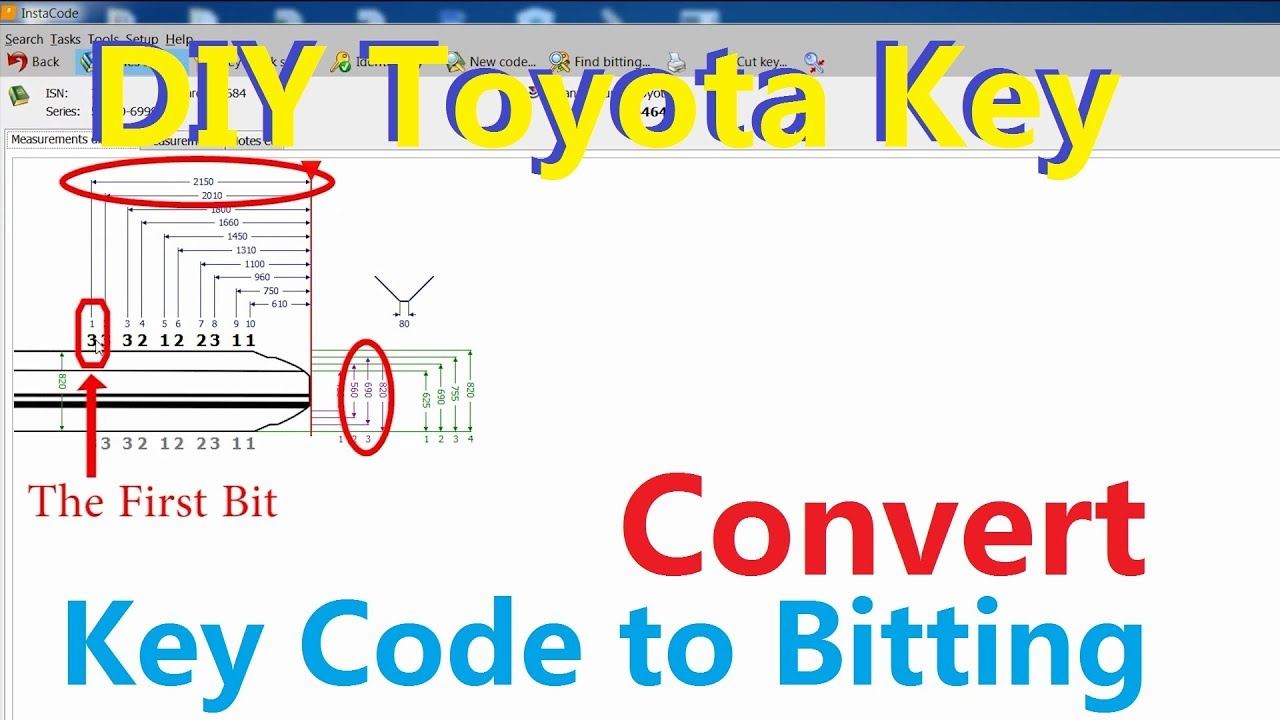 DIY Toyota Key(2/4) -How to convert Key code into Bitting
