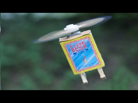 Download How to Make a Flying Helicopter With Matches and DC Motor