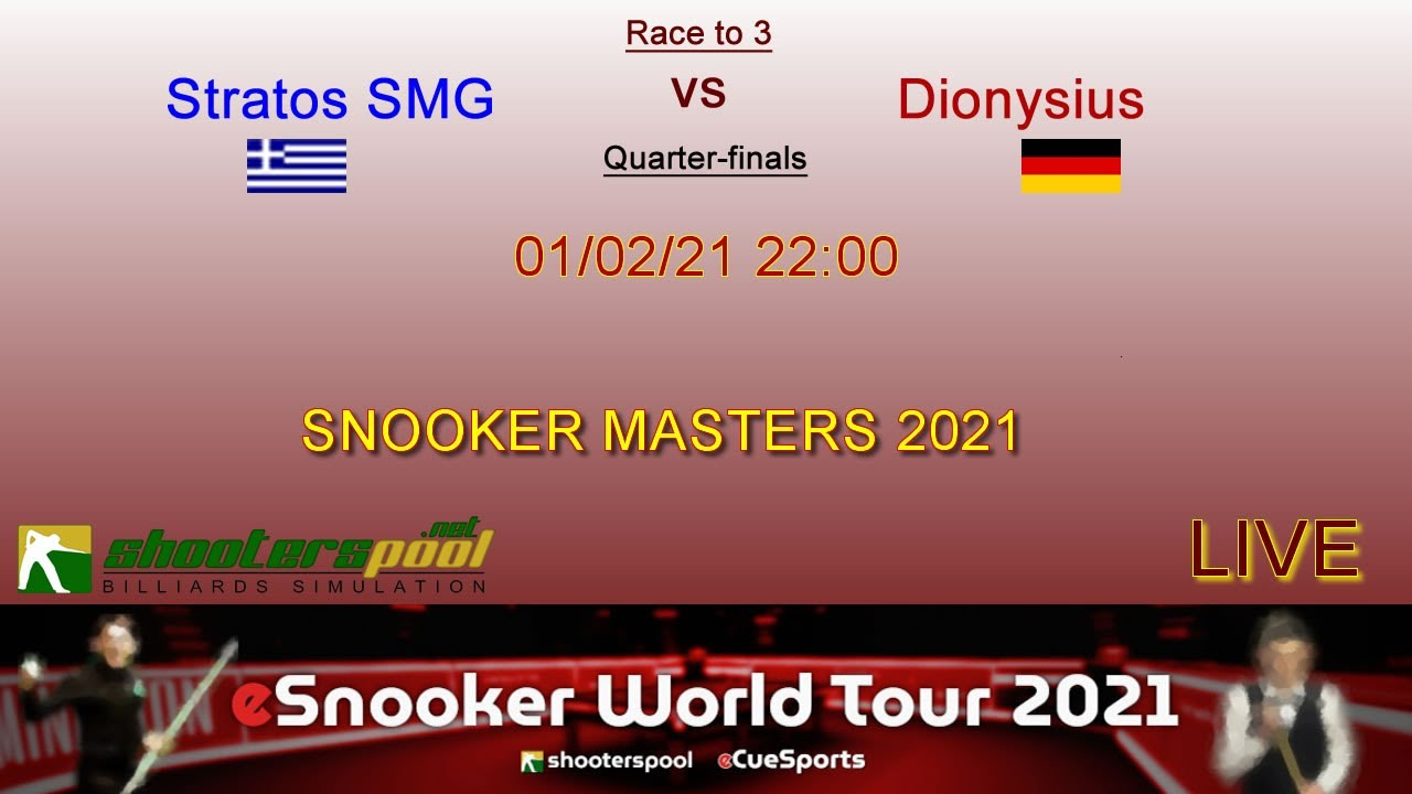Shooterpool 01feb21 Snooker Masters 2021 Youtube