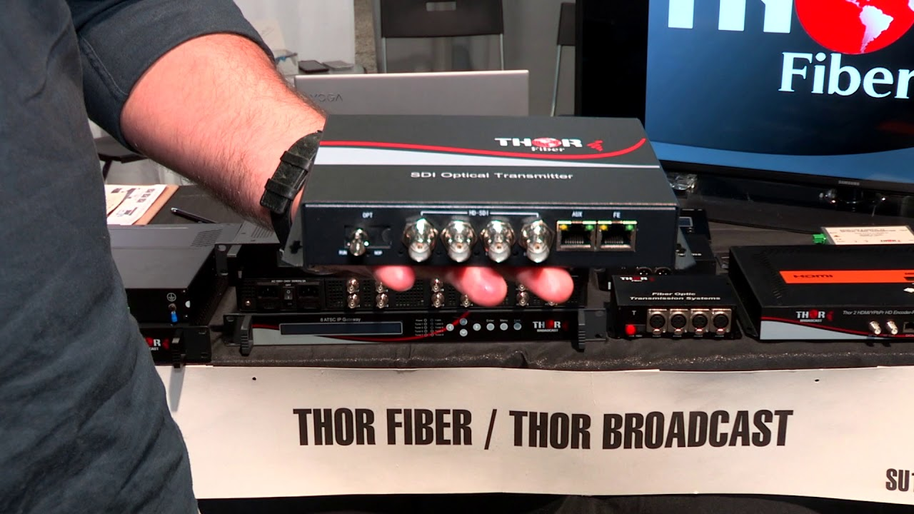 Thor Fiber 4 Channel SDI Optical TX/RX Kit