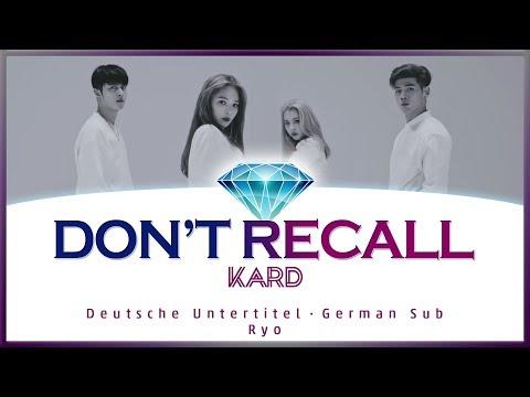 KARD (카드) - Don't Recall - K.A.R.D - Deutsch / German Lyrics / Deutsche Untertitel / Ger Sub
