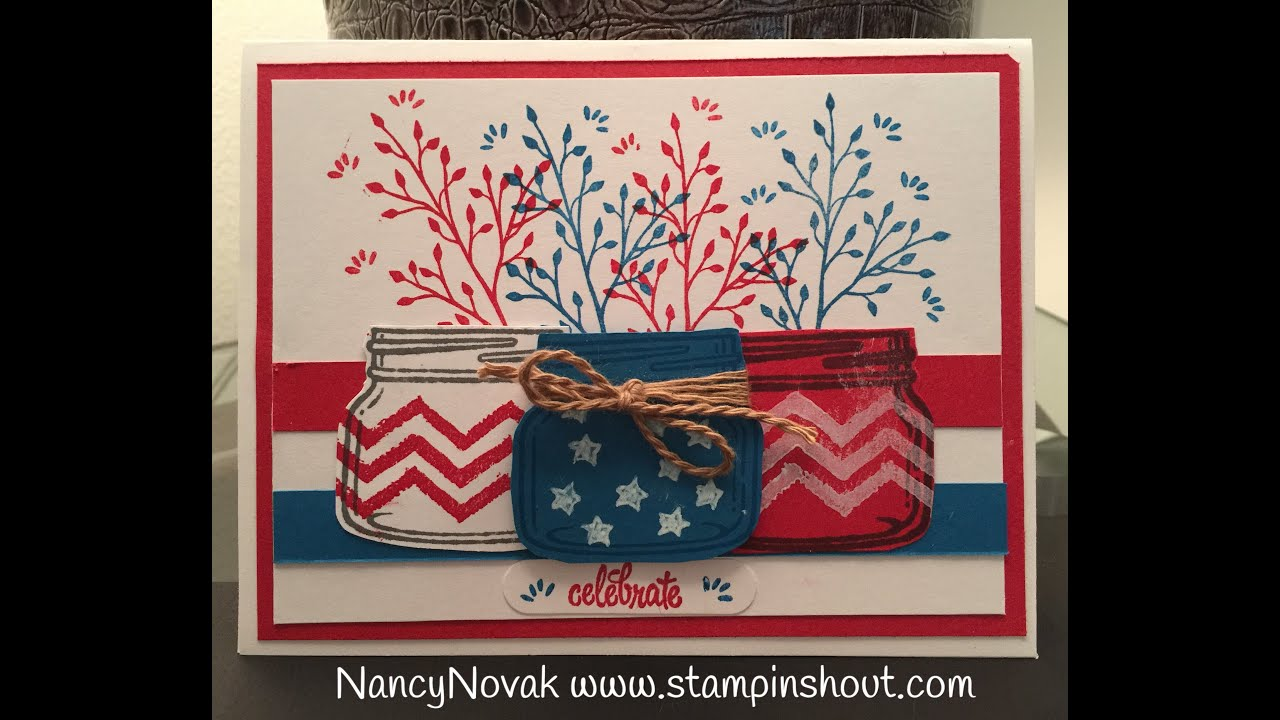 stampin up jar of love 4th of july card youtube