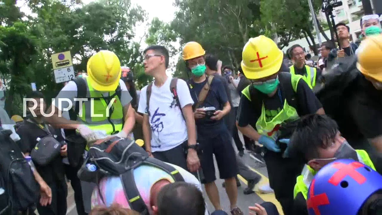 LIVE: Protest in Hong Kong's Sheung Shui against mainland Chinese parallel traders