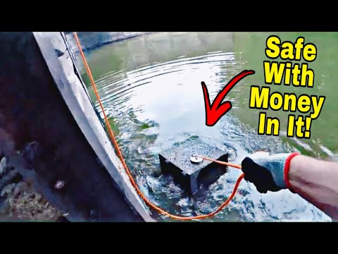 The Craziest Magnet Fishing Jackpot EVER - I Found A Stolen Safe With Money In It!!! |