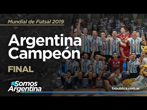 Argentina Campeón del mundo - Mundial de Futsal - Misiones 2019