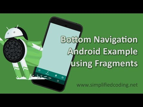 Android Bottom Navigation View Tutorial Using Fragments