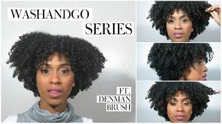Wash n Go ft. Denman Brush and TGIN Curl Bomb Styling Gel | Kelsley Nicole