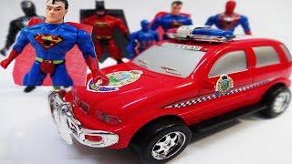لعبة سيارة الشرطة الحقيقية للاطفال العاب سباق سيارات مع الشخصيات للاولاد والبنات