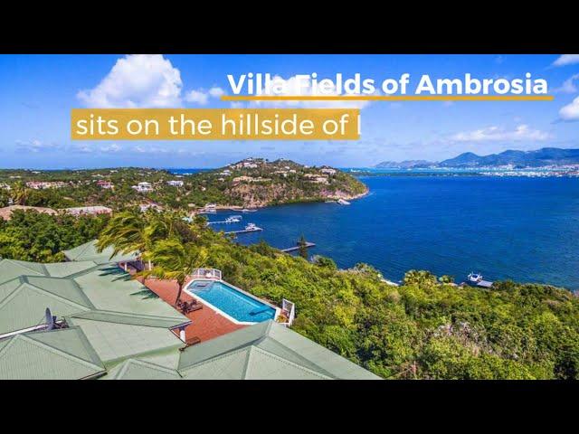 Real estate St. Martin, Caribbean, French Lowlands. Hillside luxurious villa Field Of Ambrosia