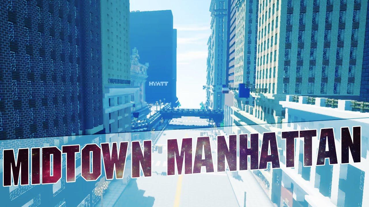 Minecraft Midtown Manhattan In Minecraft New York City Cinematics