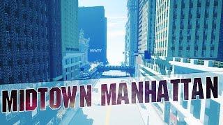 Minecraft - Midtown Manhattan in Minecraft (New York City Cinematics - Map w/ Download - 2015)