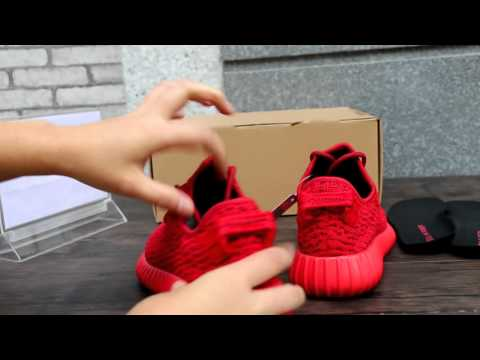"""97771af1306 Adidas Yeezy 350 Boost """"Red"""" HD Review From solegeneral.cn - YouTube"""