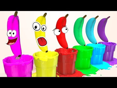 Thumbnail: Learn Colors with Superheroes Banana Pool for Children & Cars for Kids Soccer Balls Learning Video