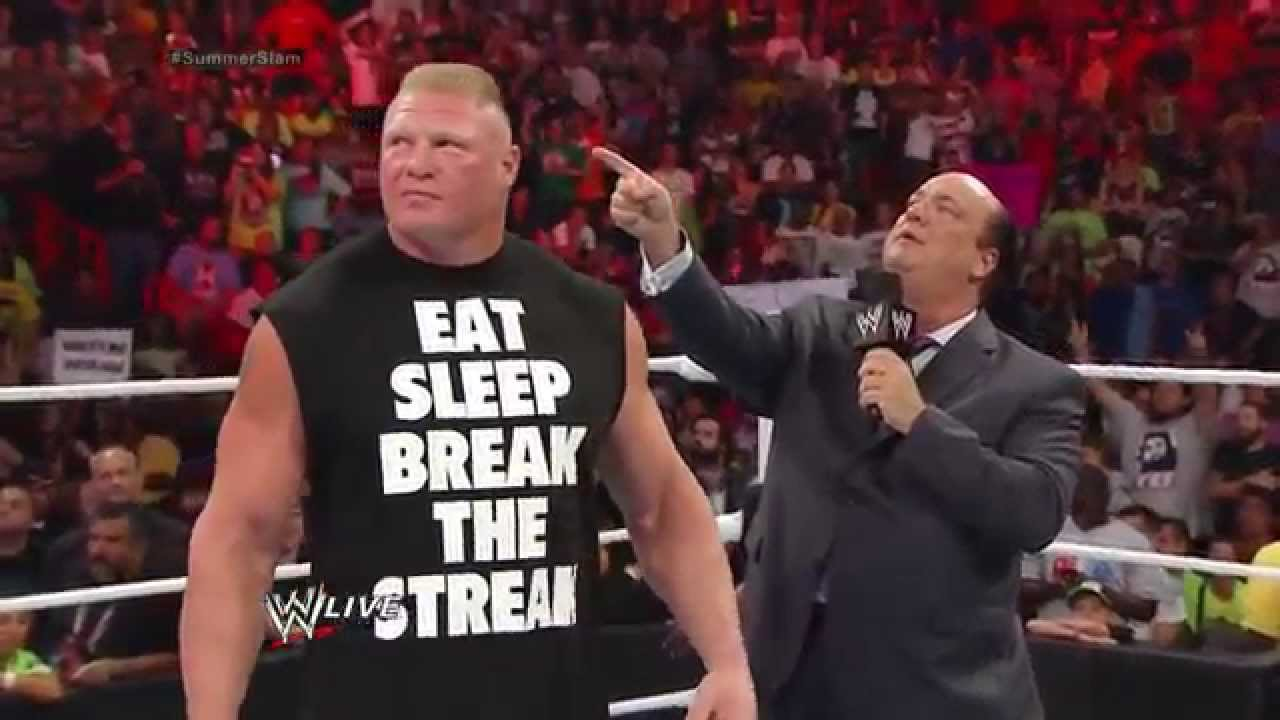 WWE Raw 7/21/14 Brock Lesnar returns to face John Cena at SummerSlam 2014