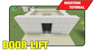 door lift mini elevator tutorial minecraft xbox ps3 tu16