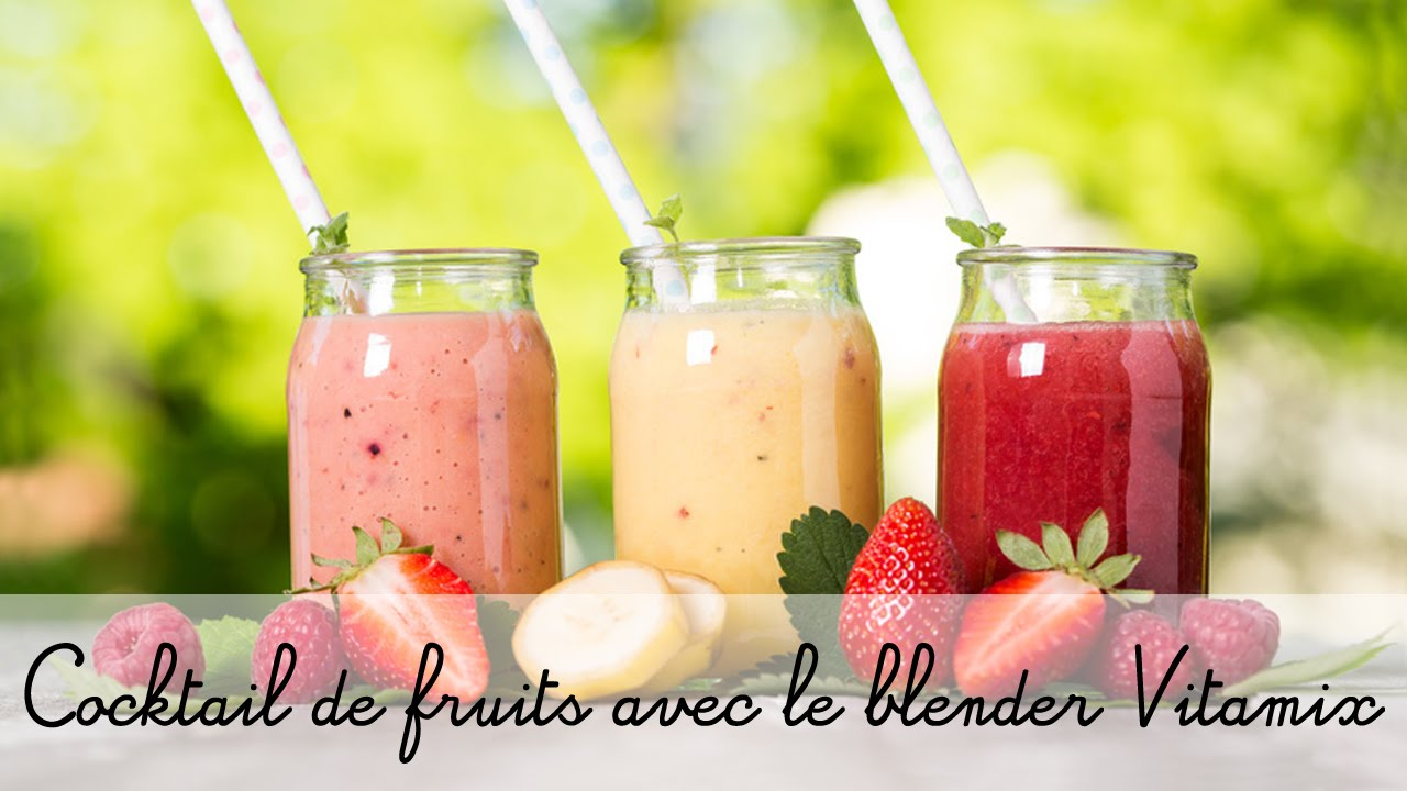 recette avec le blender vitamix coktail de jus de fruits youtube. Black Bedroom Furniture Sets. Home Design Ideas