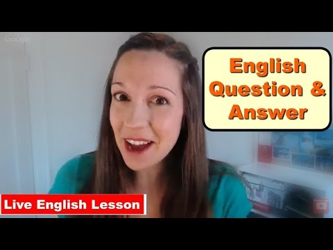 Fun English Q&A With Vanessa: Ask me your burning questions!