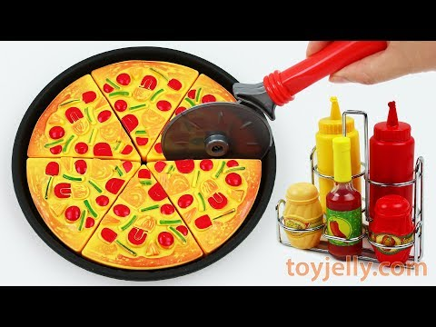 Play Doh Oven Toy Velcro Cutting Pizza Ice Cream Learn Fruits & Vegetables Toy Surprise Baby Songs