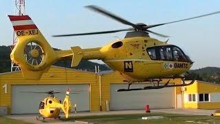 Eurocopter EC-135 formation landing at Budaörs medical base