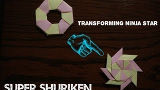 how to make a transforming ninja star 8 pointed