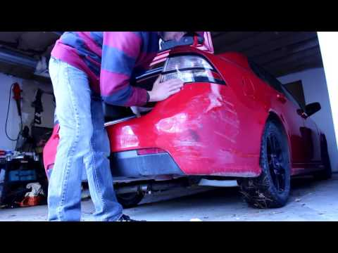 How to Remove A Bumper on a Saab and Fix a Dent