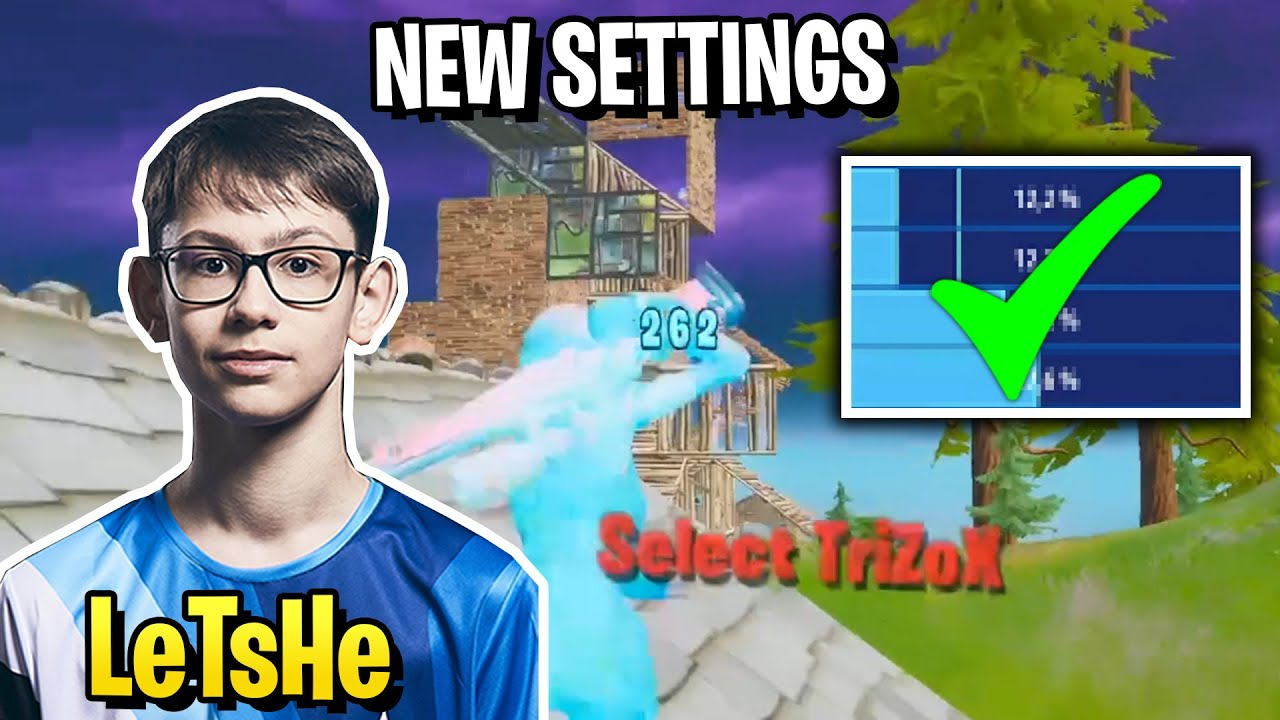 LeTsHe Improve His AIM & EDITING After Update New Settings in Fortnite! (Solo Arena Highlights)
