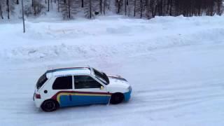 Peugeot 106 bimotore pista ghiaccio crevacol