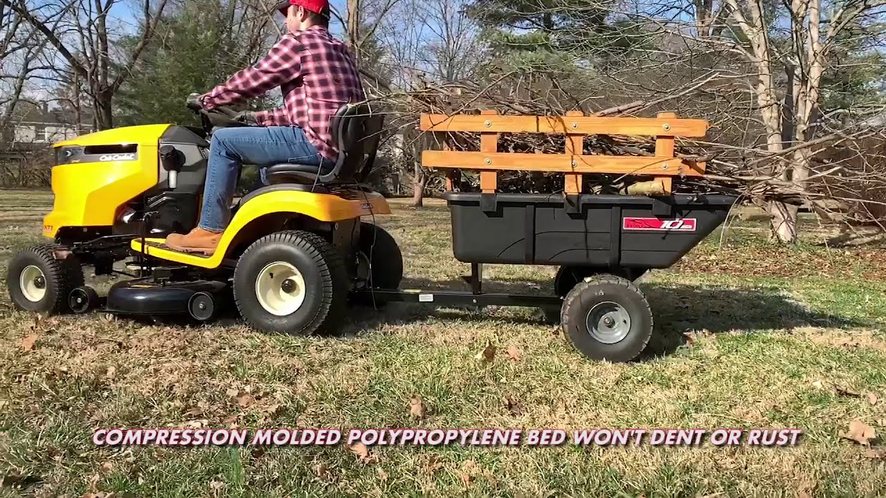 Brinly Pct 10bh 10 Cu Ft Poly Cart Youtube