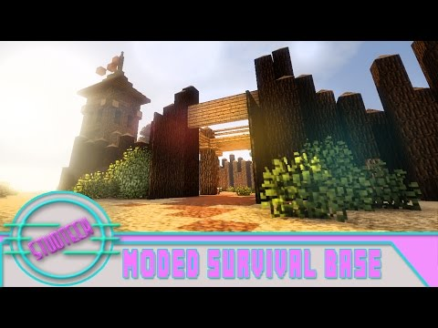 Minecraft: Modded Survival Base Build - Old West Fort   (Stud Tech Ep.1)