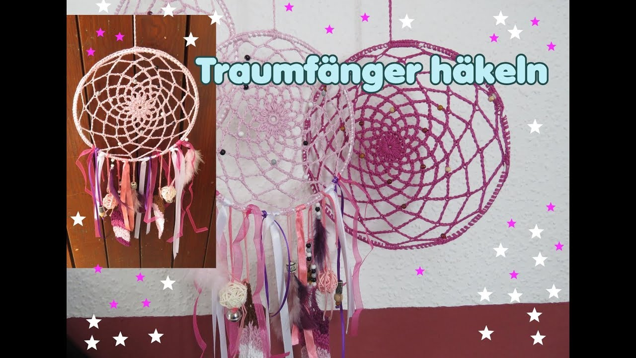 traumf nger h keln h kelanleitung by carolines welt dreamcatcher youtube. Black Bedroom Furniture Sets. Home Design Ideas