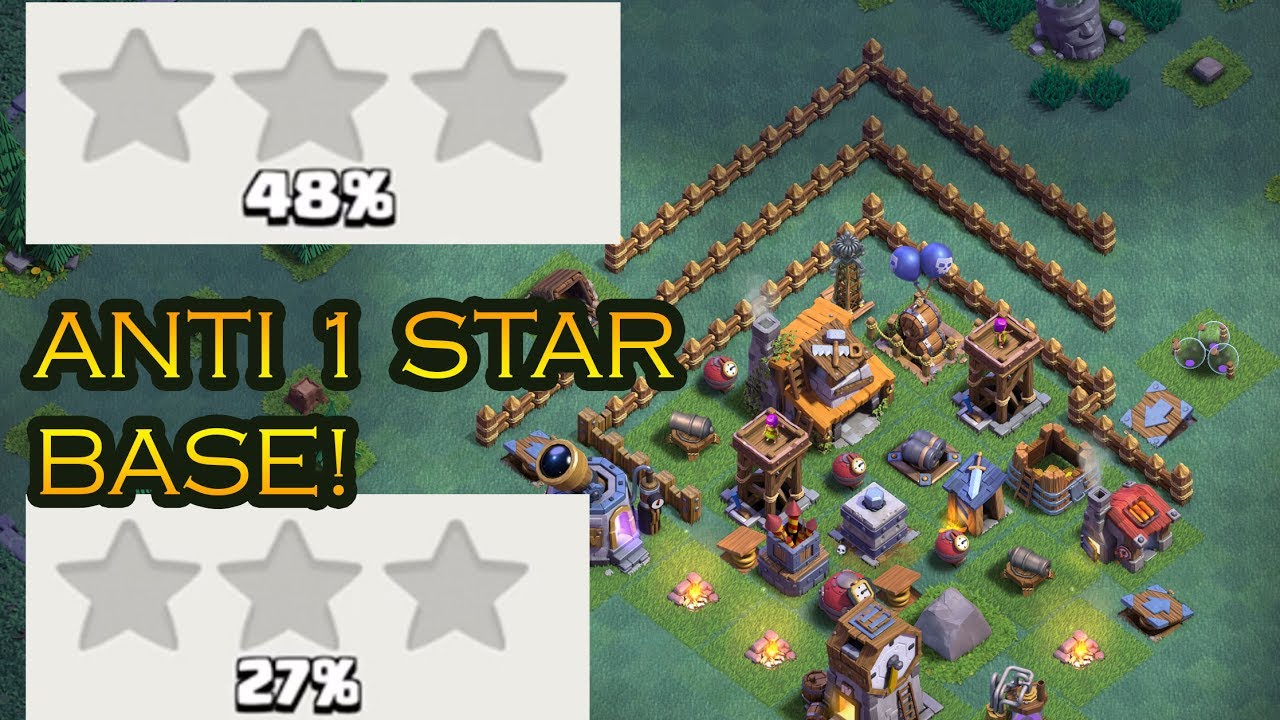Best clash builder hall 4 anti 1 star base proof may Best builder house 4 base