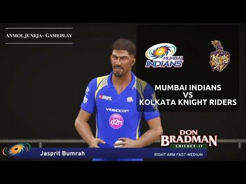 Mumbai Indians vs Kolkata Knight Riders // Indian Premier League // IPL // Don Bradman Cricket 17