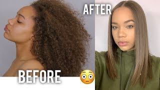 CURLY TO STRAIGHT: N๐ Frizz, No Damage