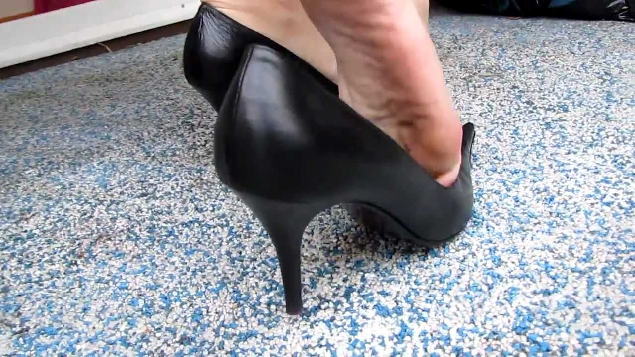 Candid shoeplay feet dangling flats during meeting - 3 part 2