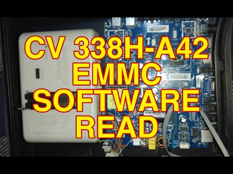 HOW TO READ ANDROID BOARD CV338H-A42 EMMC SOFTWARE WITH RT809H PROGRAMMER
