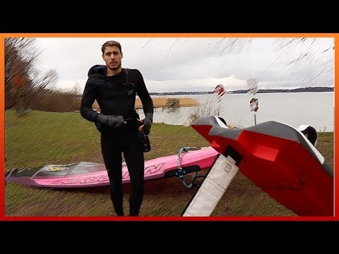 A REALLY STRANGE WINDSURF BOARD - The Future Of Windsurfing? 🤔 | Vlog