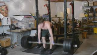 300x30 box dl stance squat, 325x17 1in deficit dl and 605x7 rack pull