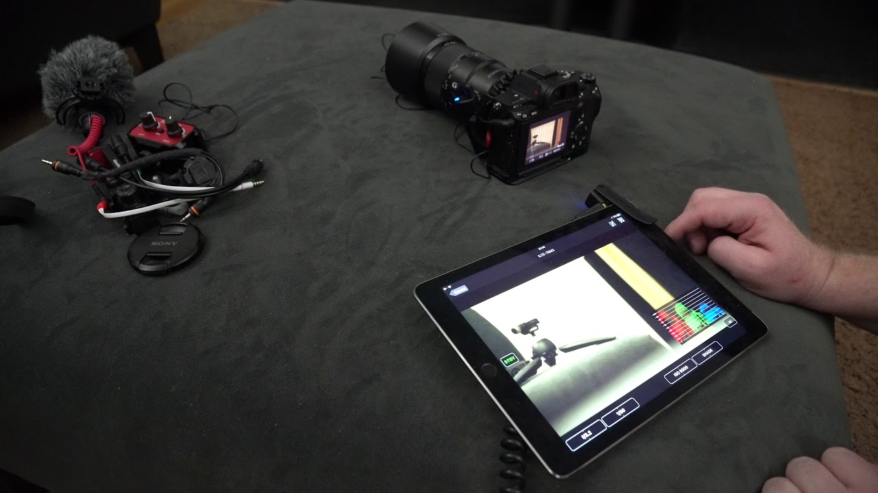 a7r iii: ipad as a remote monitor with 2-way audio hack