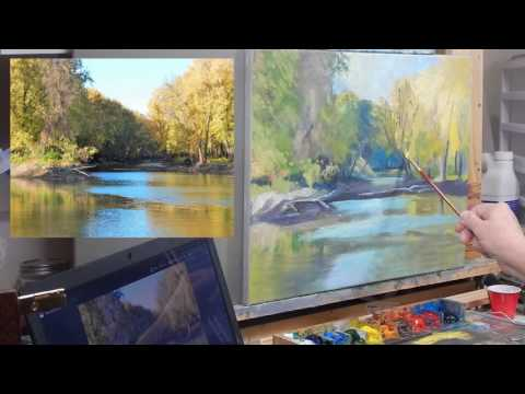 TomFisherArt 25 Final Stage of Painting Peaceful Stream 4 of 4
