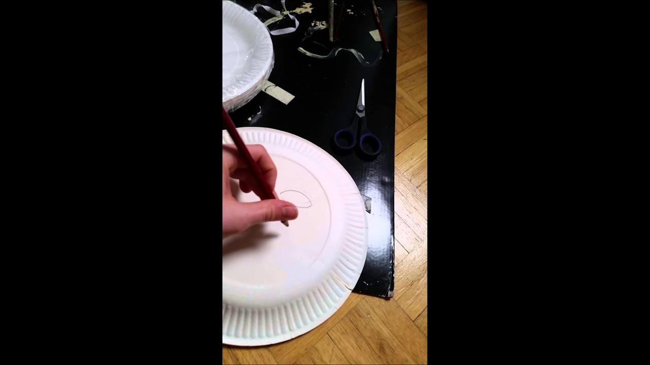fasching masken der l we aus pappteller basteln youtube. Black Bedroom Furniture Sets. Home Design Ideas