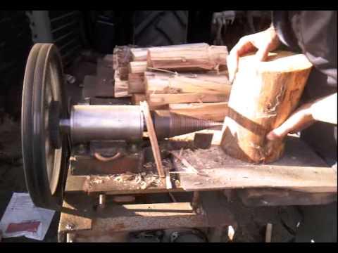 Винтовой электромеханический дровокол (колун) - YouTube