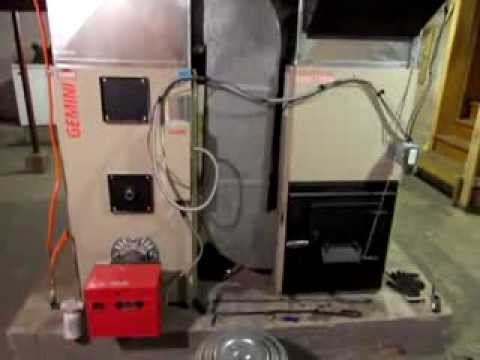 My Wood-Oil Forced Air Furnace - YouTube