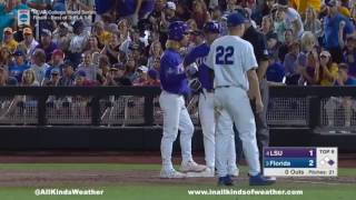 2017 College World Series Finals (Game 2): #3 Florida Gators vs  #4 LSU Tigers
