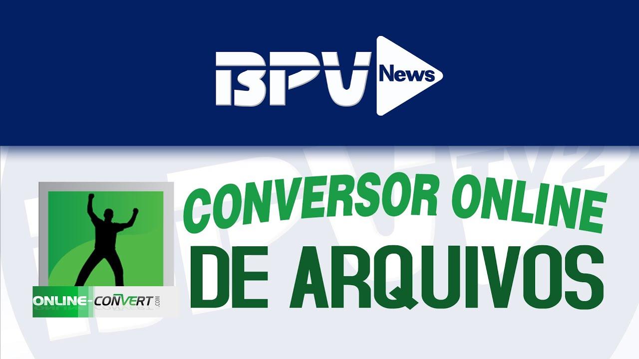 Conversor Online de arquivos (Online Convert) - YouTube