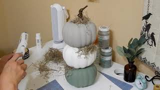 DIY Pumpkin Topiary from Dollar Tree