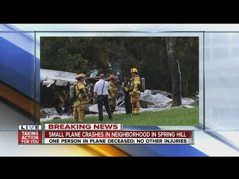 BREAKING NEWS: One dead after plane crashes in Spring Hill neighborhood