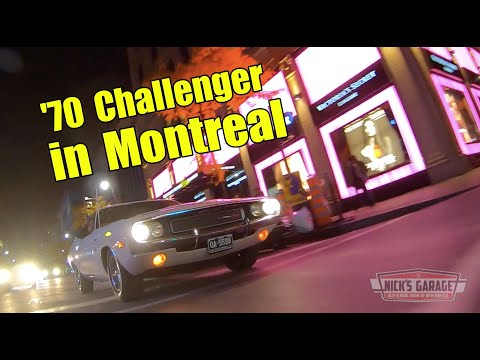 Tour of Montreal in a 1970 Dodge Challenger - Hot Road Test